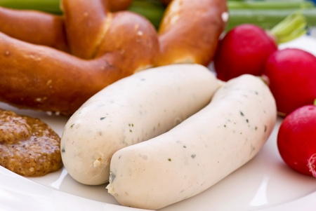 Weisswurst with Pretzel photo
