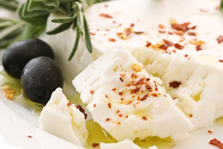 Feta with Olives Stock Photo - 9031072