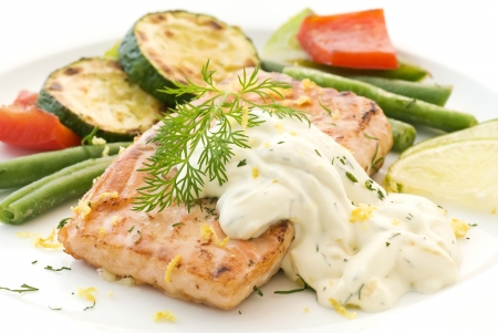 Salmon Steak Stock Photo - 9031114