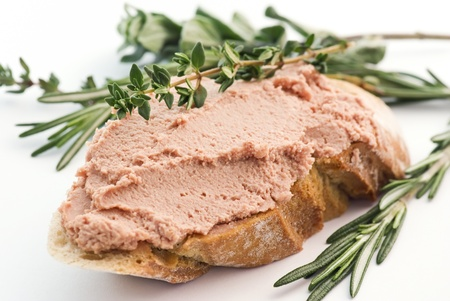 leftovers: Meat Spread Stock Photo