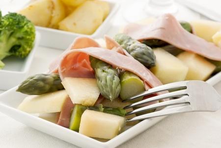 Asparagus with Ham and Melon photo