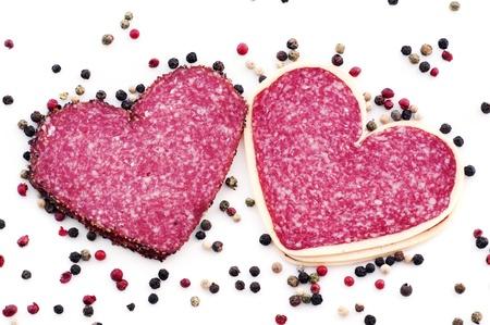 smoked sausage: Heart Salami