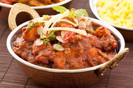 curry dish: Chicken Madras with Rice