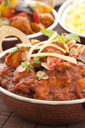 chicken curry: Chichen Masala mit Reis Lizenzfreie Bilder