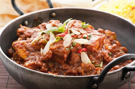 curry dish: Chicken Madras in Stew pot