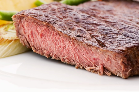 beefsteak: Beefsteak with Vegetable Stock Photo