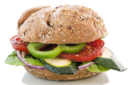 bap: Vegetable Sandwich Stock Photo