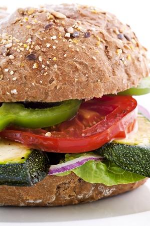 zucchini vegetable: Vegetable Sandwich Stock Photo