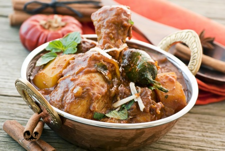chicken rice: Chicken Vindaloo Stock Photo