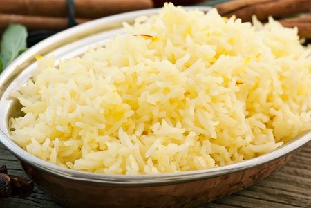 basmati: Saffron Rice Stock Photo