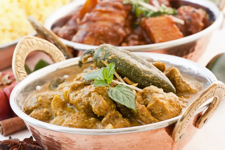 Chicken Vindaloo and Curry photo