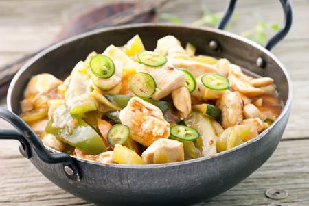exotically: Chicken Sweet Sour Stock Photo