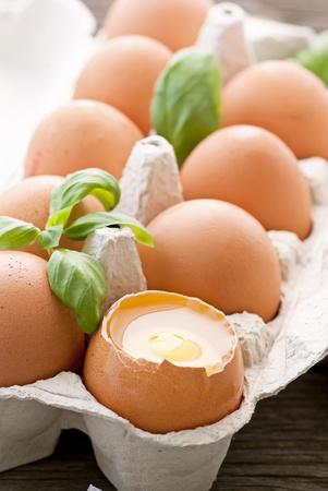 Eggs in Egg Box photo