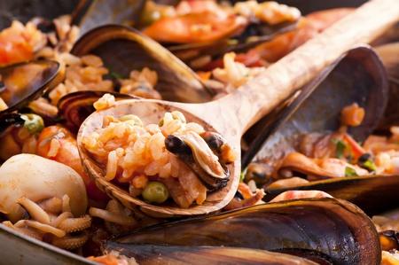 Seafood Paella Stock Photo - 9637721