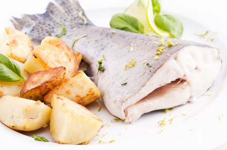 Trout with Potato Stock Photo - 9796883