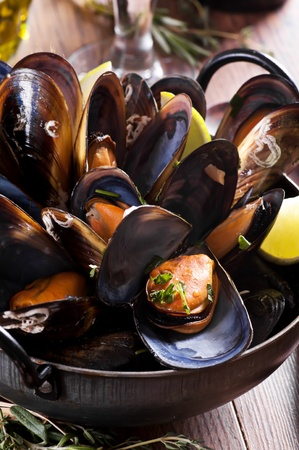 Mussels in White Wine photo