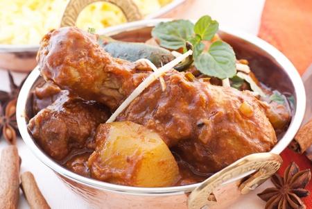 chicken curry: Huhn Madras