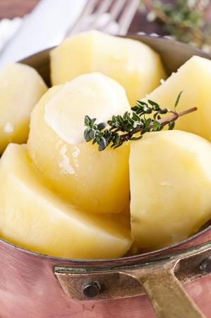 Boiled potato photo