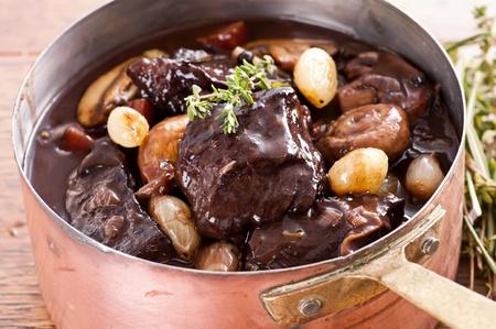 beef tenderloin: Boeuf Bourguignon