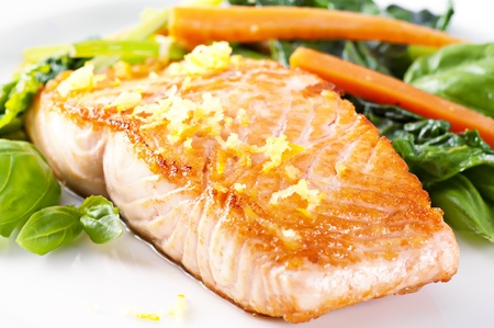 grilled salmon: Salmon Stock Photo