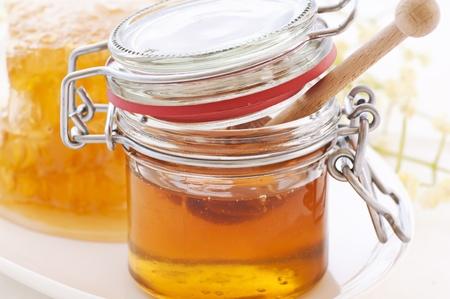 Honey Glass with Honeycomb photo
