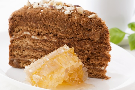 Honey Cake with Honeycomb photo