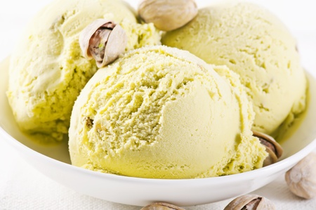 fresh water smelt: Pistachio Ice cream