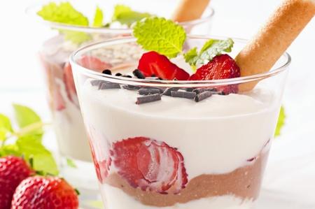 Dessert, la ricotta Banque d'images