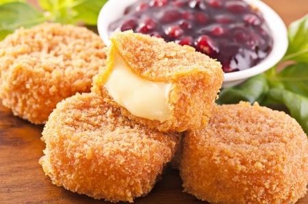hermelin: Fried Camembert Cheese Stock Photo