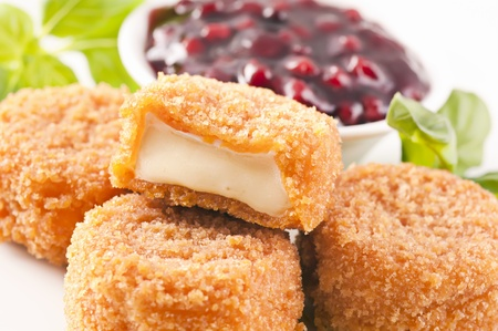 hermelin: Camembert fried Stock Photo