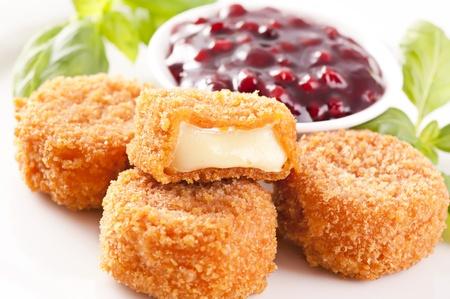 hermelin: Fried Camembert Stock Photo
