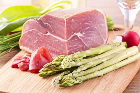 Asparagus with Ham Stock Photo - 10048048