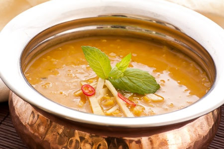 exotically: Lentil Soup Stock Photo