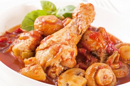stewed: Chicken Cacciatore