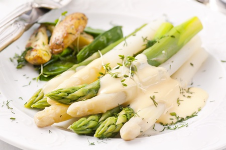 suger: Asparagus with potato Stock Photo