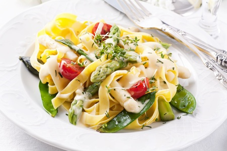 Pasta with vegetable and sauce Stock Photo - 10131076
