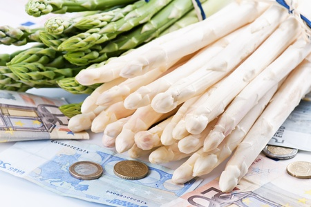 batch of euro: asparagus with money