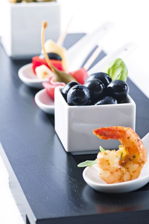 Snack bar with tapas photo