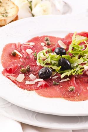 antipasto: Antipasto with carpaccio
