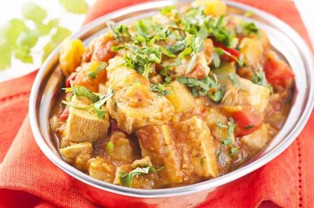 tandoori chicken: Paneer vegetable jalfrezi Stock Photo