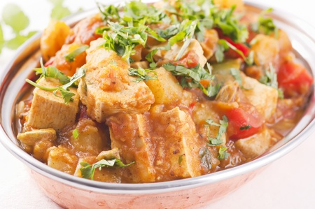 vegetarian cuisine: Paneer vegetable jalfrezi Stock Photo