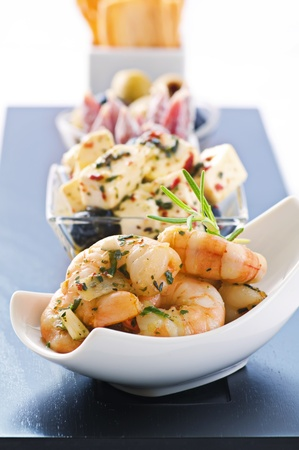 shrimp cocktail: Snack bar with tapas