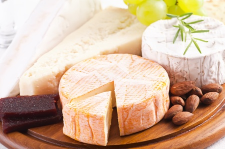 abbaye: Cheese different sorts Stock Photo