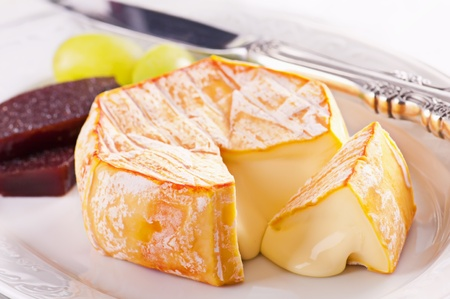 molded: Red molded soft french cheese