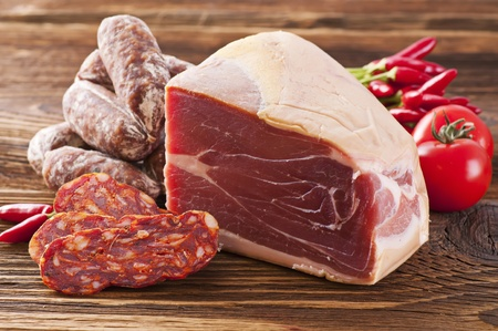 air dried salami: Meat product