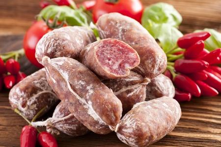 longaniza: Italian air-dried salami