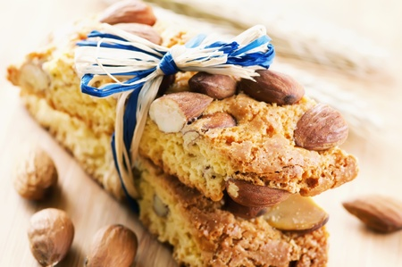 twice: Italian biscotti Di Prato with almond Stock Photo