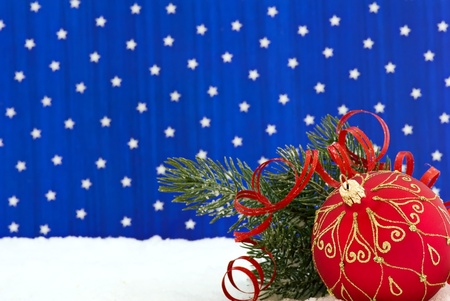 Christmas Bauble in Snow photo