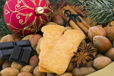 Christmas Cookies with Nuts photo