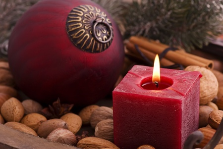 Christmas Decoration with Candlelight photo